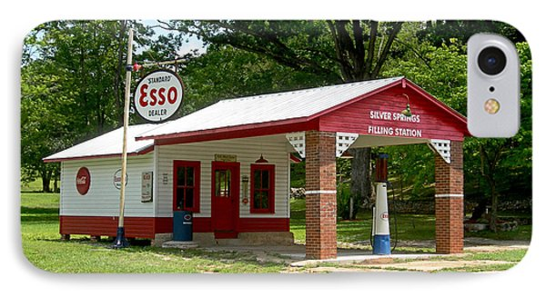 Esso Station IPhone Case by Greg Joens