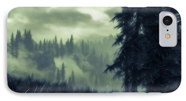 Eternal Shadow Falls  IPhone Case by Andrea Mazzocchetti