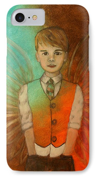 Ethan Little Angel Of Strength And Confidence Phone Case by The Art With A Heart By Charlotte Phillips