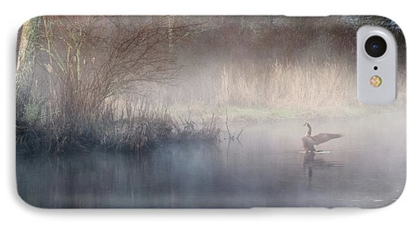 IPhone 7 Case featuring the photograph Ethereal Goose by Bill Wakeley