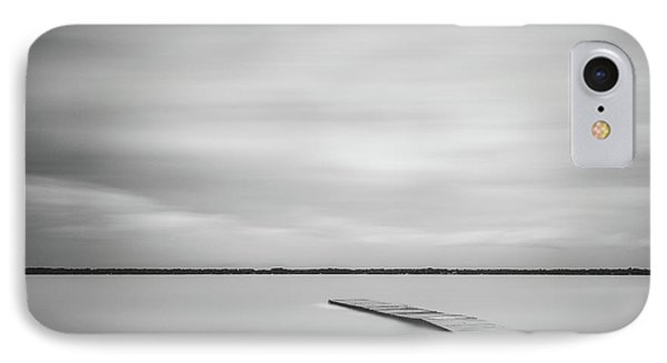 Ethereal Long Exposure Of A Pier In The Lake IPhone Case