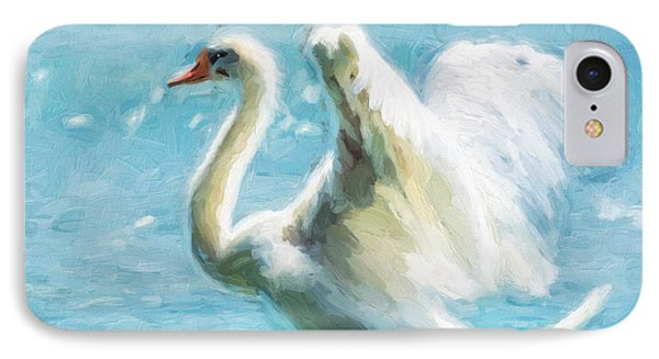 Ethereal Swan IPhone Case by Georgiana Romanovna