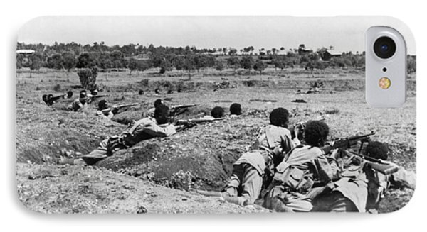 Ethiopians Firing At Italians IPhone Case by Underwood Archives