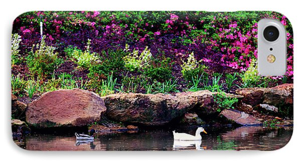 Ethreal Beauty At The Azalea Pond IPhone Case by Tamyra Ayles