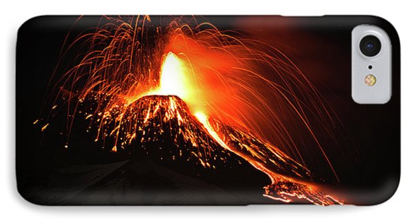 IPhone Case featuring the pyrography Etna by Bruno Spagnolo