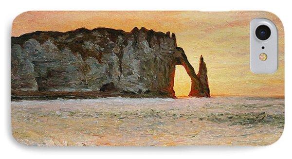 Etretat, Sunset  IPhone Case by Pierre Van Dijk