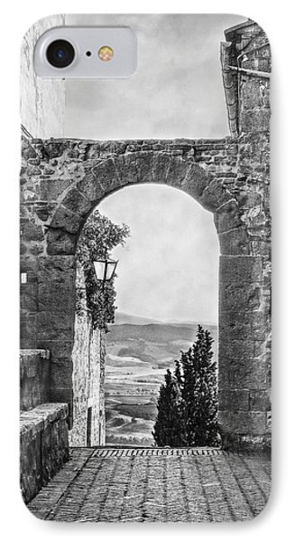 Etruscan Arch B/w IPhone Case by Hanny Heim