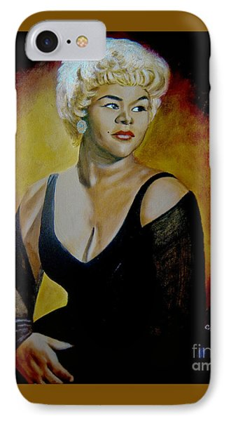 Etta James IPhone Case by Chelle Brantley