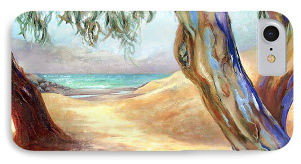 Eucalyptus Beach Trail IPhone Case by Michael Rock