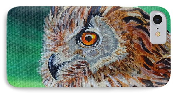 Eurasian Eagle-owl Phone Case by Isabel Proffit