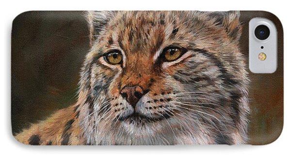 Eurasian Lynx IPhone Case by David Stribbling