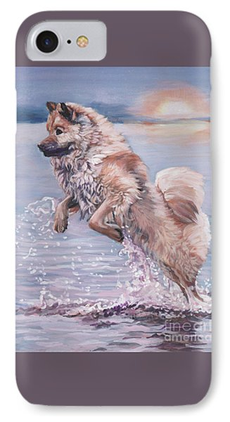 IPhone Case featuring the painting Eurasier In The Sea by Lee Ann Shepard