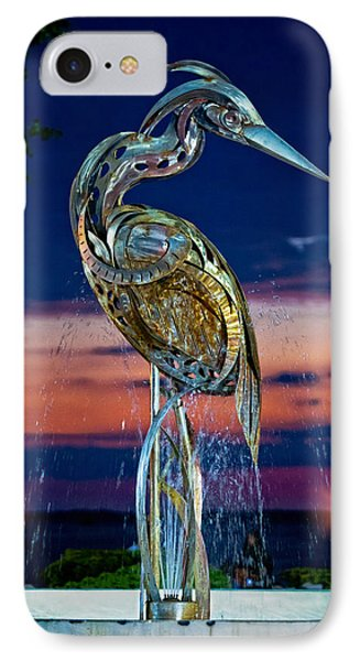Eustis Egret Fountain IPhone Case by Christopher Holmes