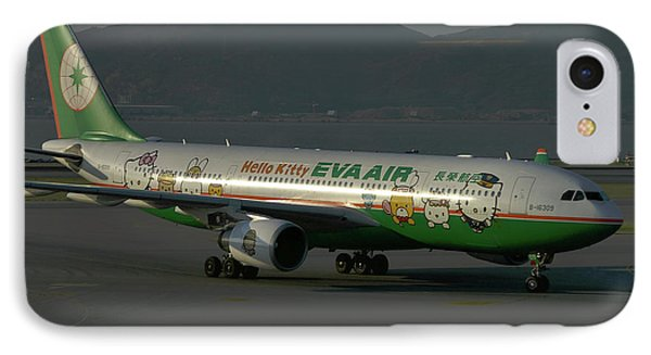 IPhone Case featuring the photograph Eva Air Airbus A330-203 by Tim Beach