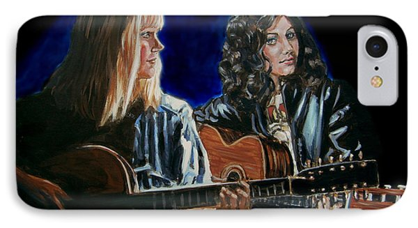 IPhone Case featuring the painting Eva Cassidy And Katie Melua by Bryan Bustard