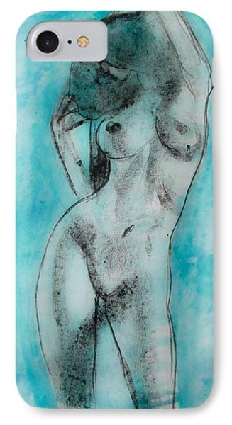 IPhone Case featuring the painting EVA by Jarko Aka Lui Grande