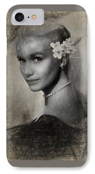 Eva Marie Saint IPhone Case by Quim Abella