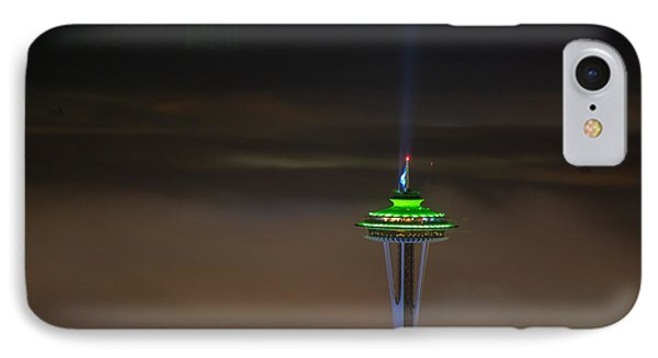 Eve Of The Superbowl Space Needle IPhone Case by Mike Reid