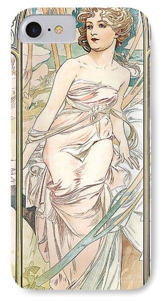 Eveil Du Matin IPhone Case by Alphonse Marie Mucha