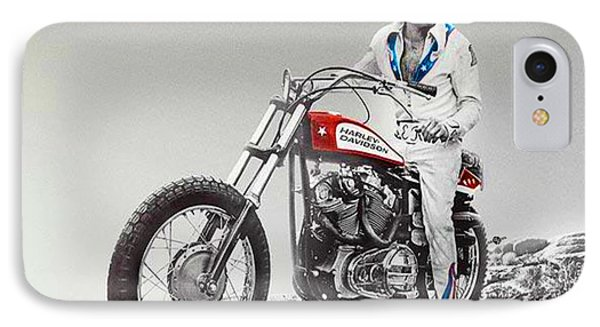 Evel Knievel Painting Spot Color Large IPhone Case by Tony Rubino