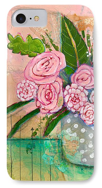 Evelyn Rose Flowers IPhone Case by Blenda Studio