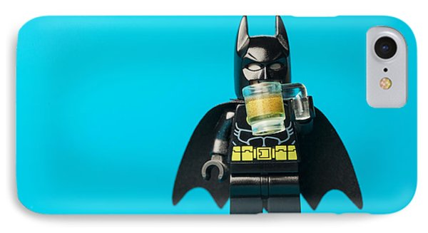 Even Batman Needs A Beer IPhone Case by Samuel Whitton