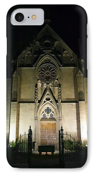 IPhone Case featuring the photograph Evening At Loretto Chapel Santa Fe by Kurt Van Wagner