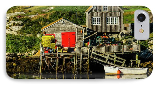 Evening At Peggys Cove Phone Case by Ken Morris