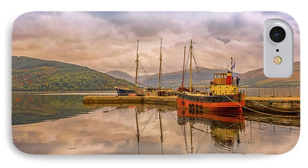 Evening At The Dock IPhone Case by Roy McPeak