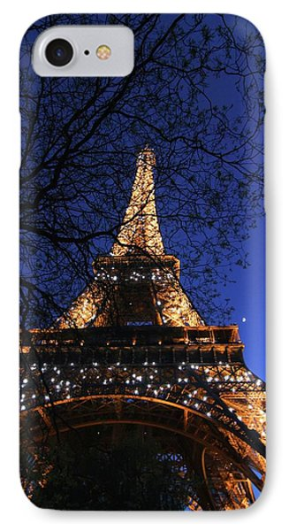 IPhone Case featuring the photograph Evening At The Eiffel Tower by Heidi Hermes