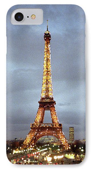 Evening At The Eiffel Tower IPhone Case by Mike McGlothlen