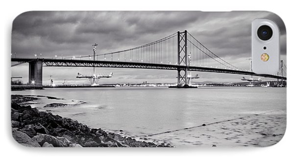 IPhone Case featuring the photograph Evening At The Forth Road Bridges by RKAB Works
