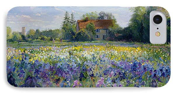 Evening At The Iris Field IPhone Case
