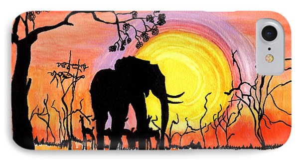 IPhone Case featuring the painting Evening At The Pond by Connie Valasco