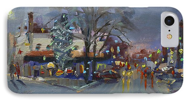 Evening At Webster And Main St IPhone Case by Ylli Haruni