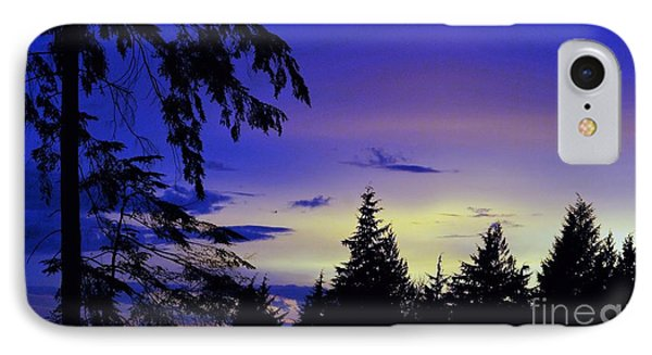 IPhone Case featuring the photograph Evening Blue by Victor K