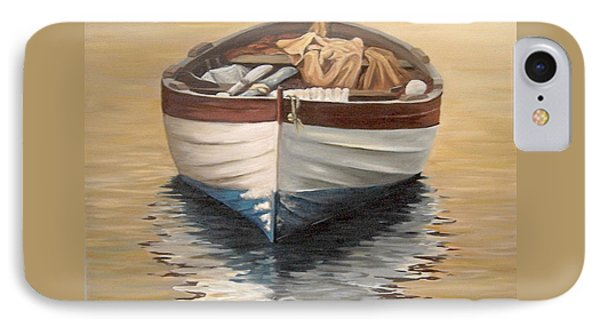 IPhone Case featuring the painting Evening Boat by Natalia Tejera