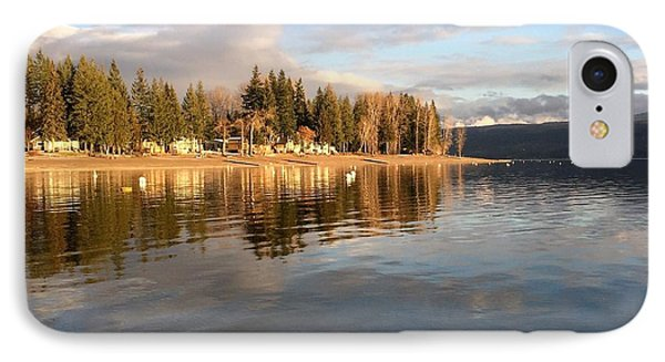 Evening By The Lake IPhone Case by Victor K