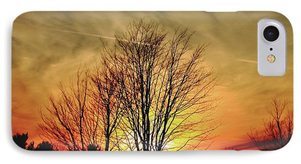 IPhone Case featuring the photograph Evening Fire by Bruce Patrick Smith