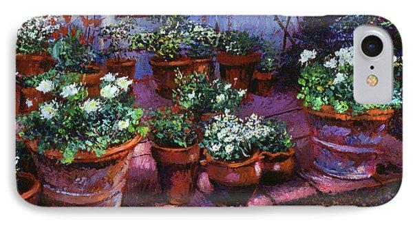 Evening Garden Patio IPhone Case by David Lloyd Glover