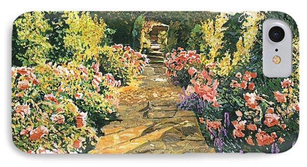 Evening Garden Sussex England IPhone Case by David Lloyd Glover