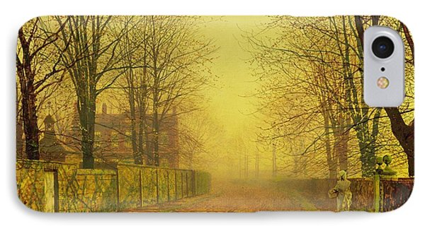 Evening Glow Phone Case by John Atkinson Grimshaw