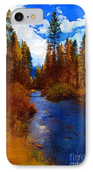 Evening Hatch On The Metolius Painting IPhone Case by Diane E Berry