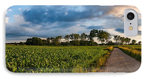 IPhone Case featuring the photograph Evening In A Cornfield by Dmytro Korol
