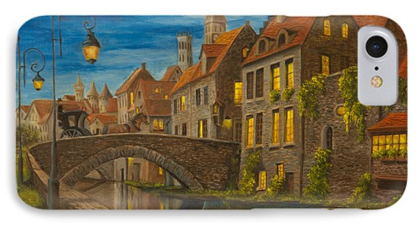 Evening In Brugge Phone Case by Charlotte Blanchard