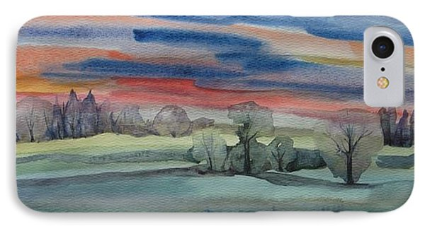 IPhone Case featuring the painting Evening In Fishcreek Park by Anna  Duyunova