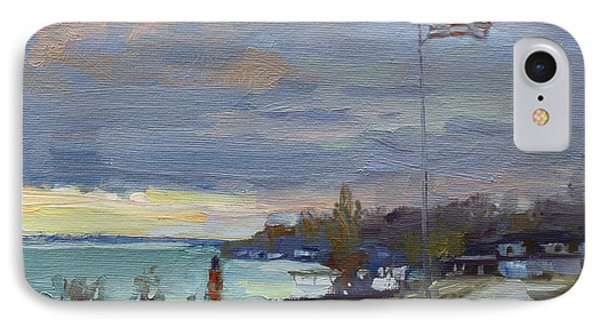 Evening In Gratwick Waterfront Park IPhone Case by Ylli Haruni