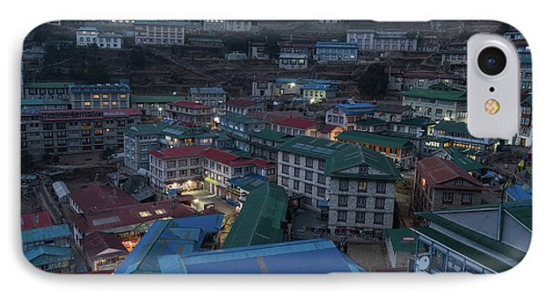 IPhone Case featuring the photograph Evening In Namche Nepal by Mike Reid