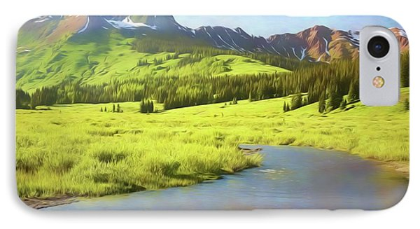 IPhone Case featuring the photograph Evening Light In Soft Pastels by Eric Glaser