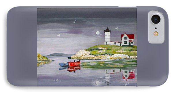 IPhone Case featuring the painting Evening Lighthouse by Phyllis Kaltenbach